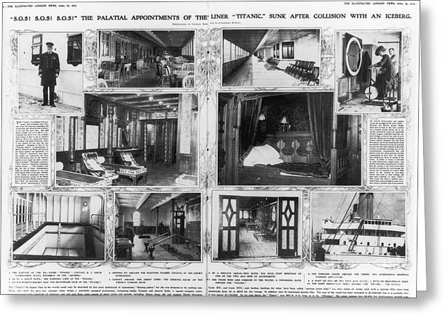 Bathhouse Greeting Cards - Titanic: Amenities, 1912 Greeting Card by Granger