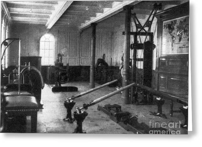 First Class Greeting Cards - Titanic: Exercise Room, 1912 Greeting Card by Granger