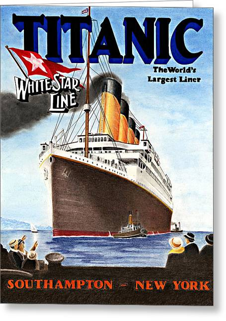 Shipping Greeting Cards - Titanic for my Wife Greeting Card by Lyle Brown