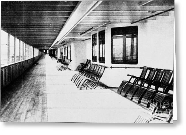 First Class Greeting Cards - Titanic: Promenade Deck Greeting Card by Granger
