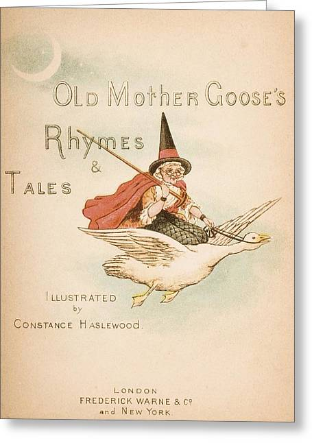 Mother Goose Greeting Cards - Title Page Illustration From Old Mother Greeting Card by Ken Welsh