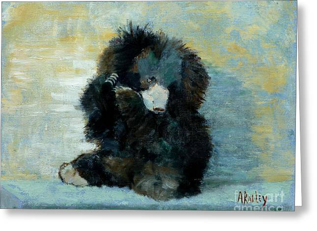 Titli Bear Greeting Card by Ann Radley