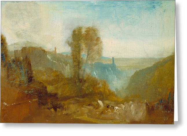 Tivoli The Cascatelle Greeting Card by Joseph Mallord William Turner