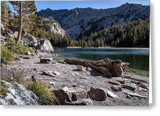Rocks Greeting Cards - TJ Lake Greeting Card by Cat Connor