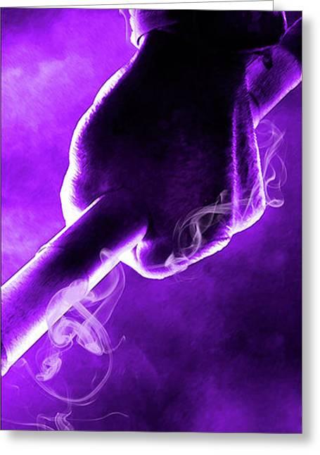 Tmnt 2   -  Donatello Smoky Purple. Greeting Card by Prar Kulasekara