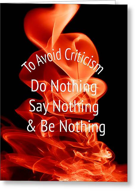 To Avoid Criticism 5459.02 Greeting Card by M K  Miller