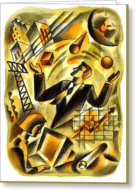 To Be A Businessman Greeting Card by Leon Zernitsky
