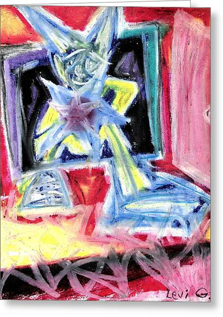 Live Music Pastels Greeting Cards - To be a Star Greeting Card by Levi Glassrock