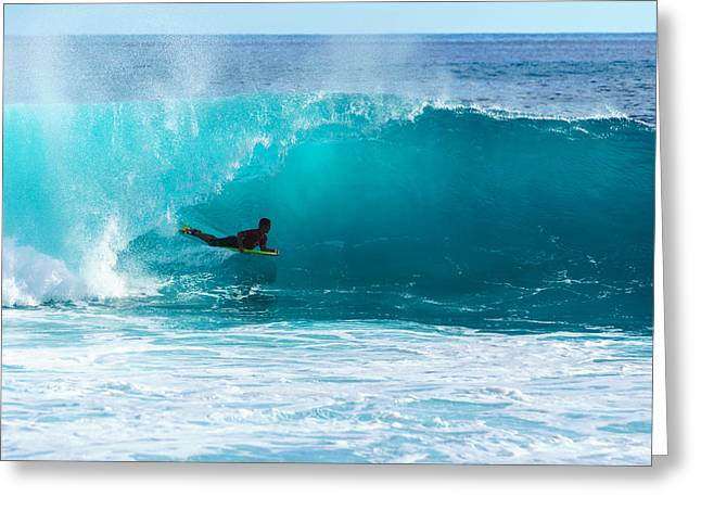 Surfing Art Greeting Cards - To Be Barreled  Greeting Card by Chris and Wally Rivera