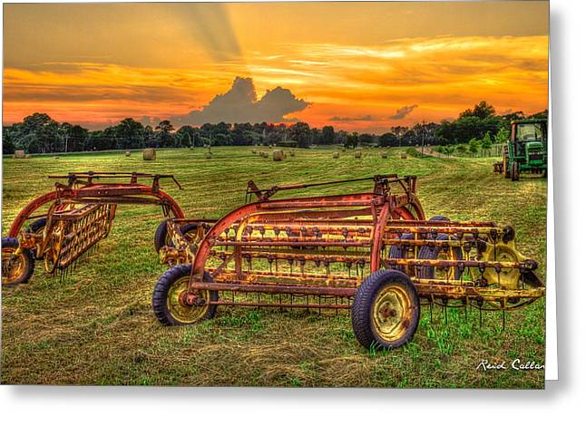 To Be Continued Hayfield Sunset Greeting Card by Reid Callaway