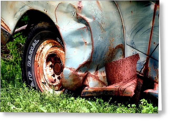Old Trucks Greeting Cards - To Better Days Greeting Card by Karen M Scovill