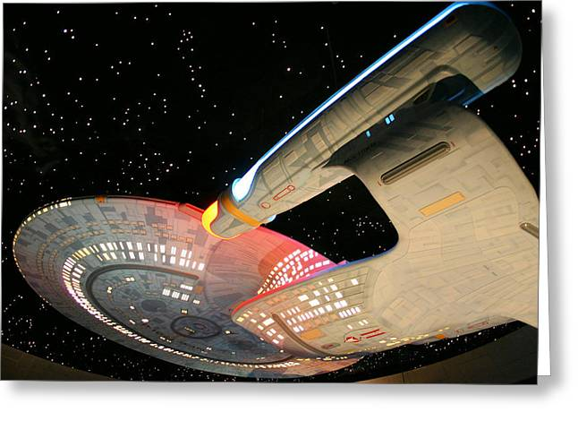 Spaceships Greeting Cards - To Boldly Go Greeting Card by Kristin Elmquist