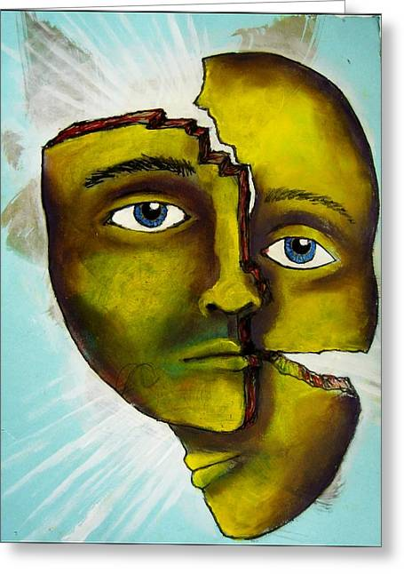 Self-knowledge Paintings Greeting Cards - To Destroy the False Image Greeting Card by Paulo Zerbato