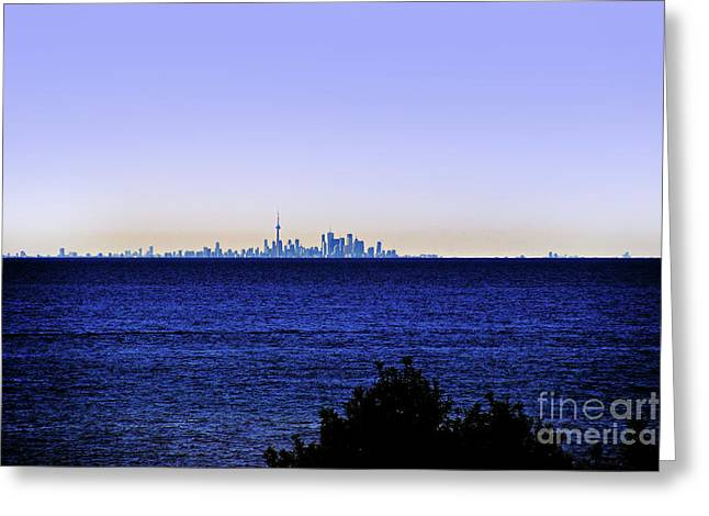 T.o. From Across Lake Ontario Greeting Card by Al Bourassa