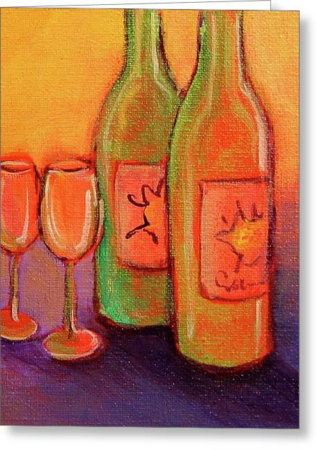 Wine Scene Greeting Cards - To Love Greeting Card by Nancy Matus