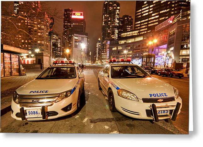 Police Car Greeting Cards - To Serve And Protect Greeting Card by Evelina Kremsdorf