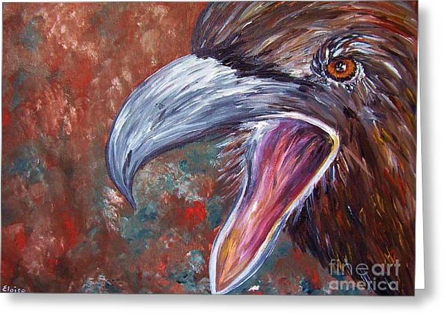 To Speak Of Eagles Greeting Card by Eloise Schneider