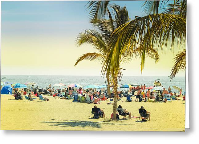 To The Beach Greeting Card by Colleen Kammerer