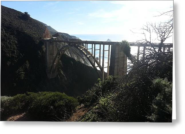 Bixby Bridge Greeting Cards - To The Bridge  Greeting Card by Jerohn  Brunson