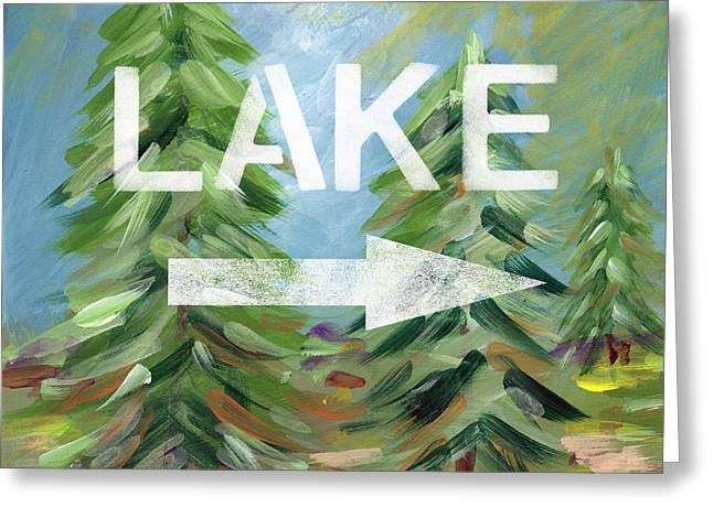 To The Lake - Art By Linda Woods Greeting Card by Linda Woods