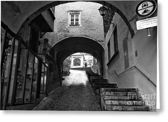 Art In Salzburg Greeting Cards - To the Light in Salzburg Greeting Card by John Rizzuto