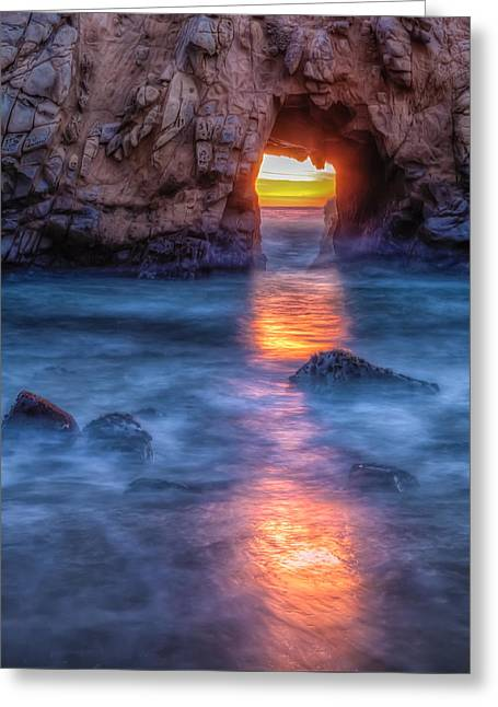 Abstract Beach Landscape Greeting Cards - To The Light Greeting Card by Jonathan Nguyen