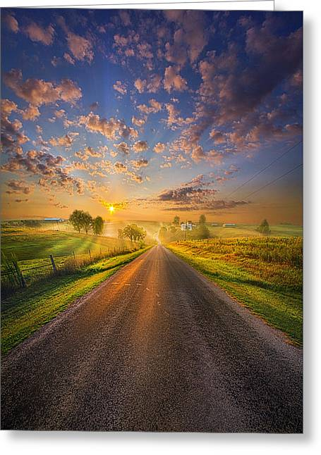Road Travel Greeting Cards - To The Place Where Dreams Are Born Greeting Card by Phil Koch
