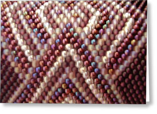 Seed Beads Greeting Cards - To The Point Greeting Card by Yvette Pichette