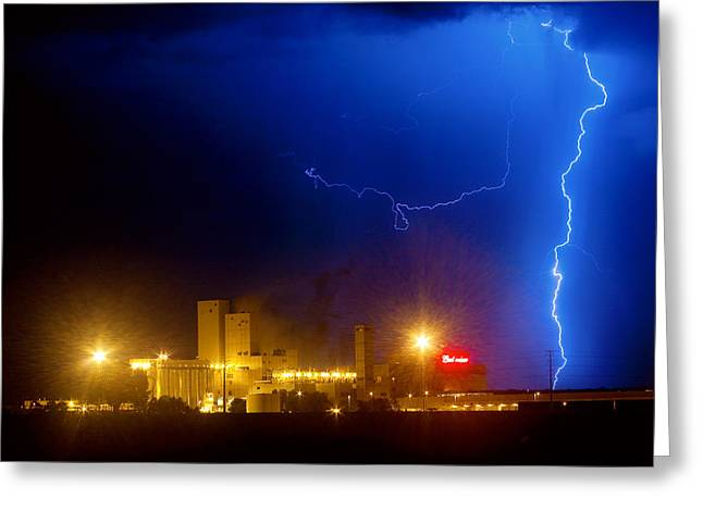 To The Right Budweiser Lightning Strike Greeting Card by James BO  Insogna