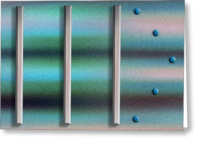Silver Turquoise Greeting Cards - To The Right Greeting Card by Paul Wear