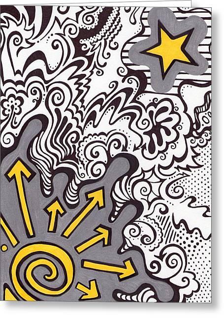 To The Stars Greeting Card by Mandy Shupp