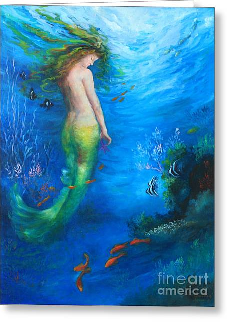 Underwater Mermaid Greeting Cards - To  the Surface Greeting Card by Gail Salituri
