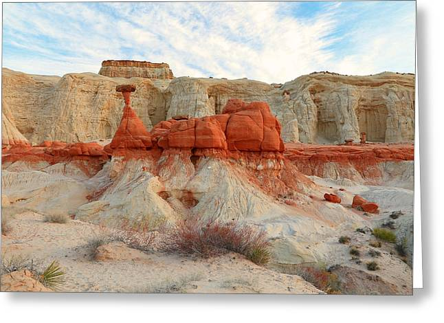 Toadstools Greeting Cards - Toadstool Hoodoos Greeting Card by Johnny Adolphson
