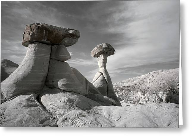 Ir Photography Greeting Cards - Toadstool Hoodoos Greeting Card by Mike Irwin
