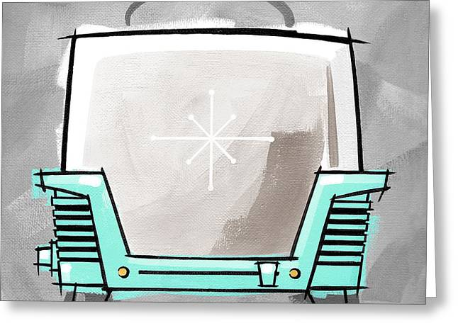Toaster Aqua Greeting Card by Larry Hunter