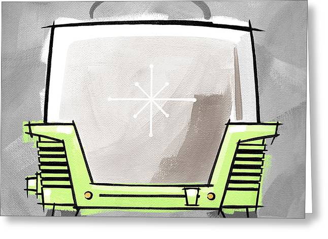 Toaster Lime Greeting Card by Larry Hunter
