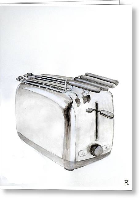 Toaster Greeting Card by Renzo
