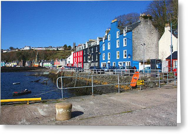 Coloured Greeting Cards - Tobermory Greeting Card by Bill Swiatek