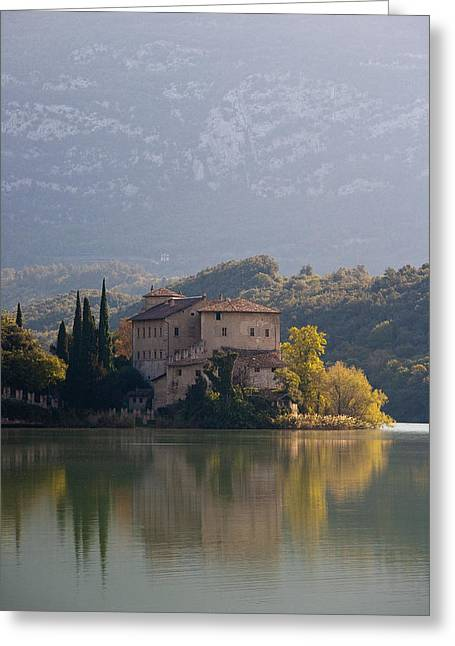 Northern Italy Greeting Cards - Toblino Castle Greeting Card by Neil Buchan-Grant