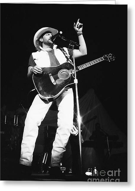Famous Artist Greeting Cards - Toby Keith 95-1547 Greeting Card by Gary Gingrich Galleries