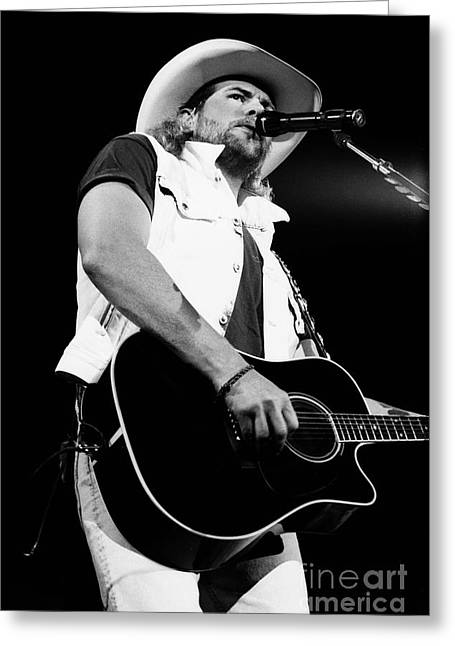 Famous Artist Greeting Cards - Toby Keith 95-1554 Greeting Card by Gary Gingrich Galleries