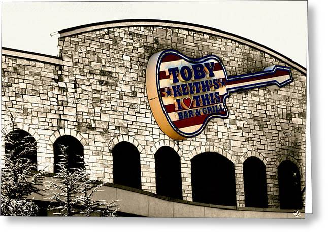 Toby Greeting Cards - Toby Keiths Bar Greeting Card by Karen M Scovill