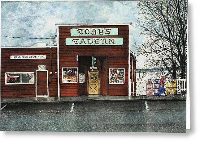 Toby Greeting Cards - Tobys Greeting Card by Perry Woodfin