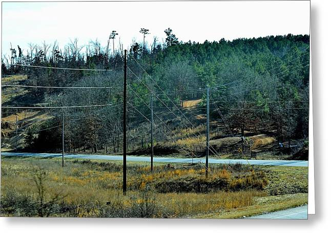 Roadway Greeting Cards - Todays Art 381 Greeting Card by Lawrence Hess