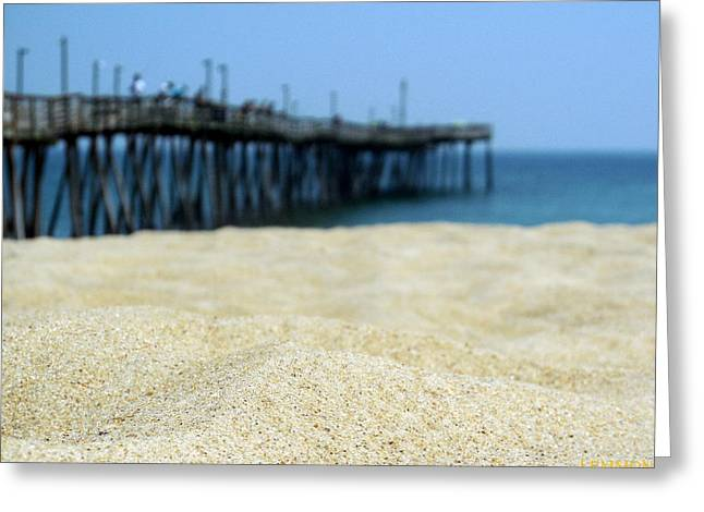 Kite Greeting Cards - Toes in the Sand 1 5/19 Greeting Card by Mark Lemmon