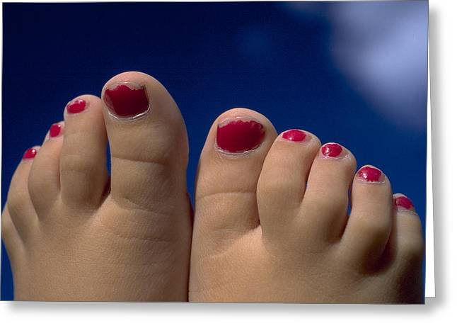 Toes Greeting Card by Michael Mogensen