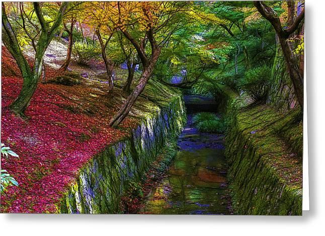 Kyoto Digital Greeting Cards - Tofukuji colors Greeting Card by Jean-Marc Lacombe