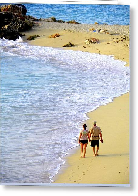 Couple Greeting Cards - Together Alone Greeting Card by Karen Wiles