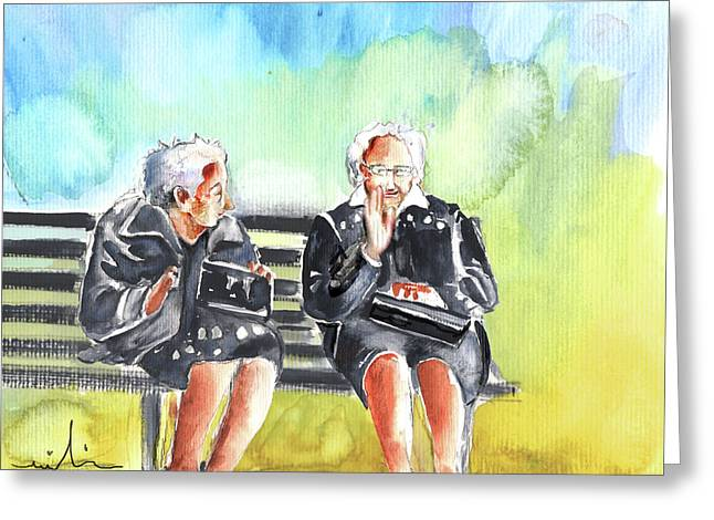 Older Couple Greeting Cards - Together old in Italy 02 Greeting Card by Miki De Goodaboom
