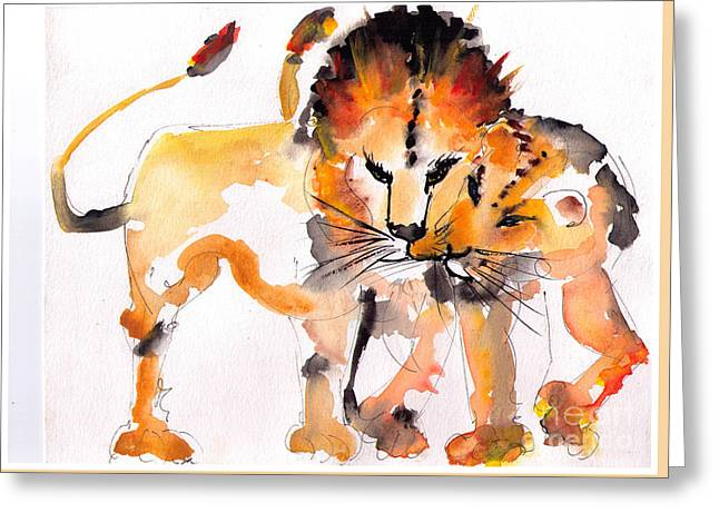 Lioness Greeting Cards - Togetherness Greeting Card by Eric Sorensen